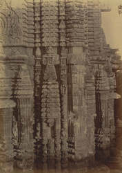 Close view of the back of the shrine of the Bhagavati Temple, in the Rajalinga Temple enclosure, Bhubaneshwar
